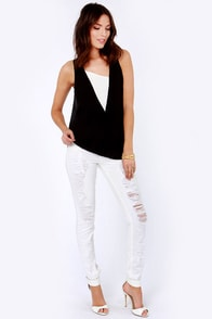 LULUS Exclusive Wedge of Glory Black and White Top at Lulus.com!