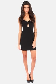 Girl on Fire Black Bodycon Dress at Lulus.com!