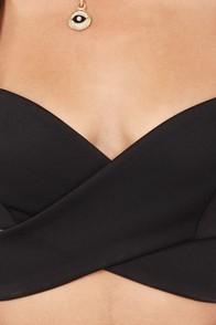 Flirty Little Secret Cutout Black Top at Lulus.com!