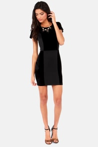 Lucca Couture Love Blockdown Black Velvet Dress at Lulus.com!