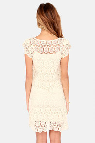 Black Swan Presley Cream Lace Dress at Lulus.com!
