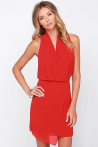 Your Kiss Red Wrap Dress at Lulus.com!