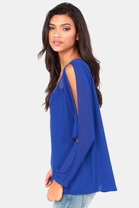 Gentle Fawn Gemma Blue Top at Lulus.com!