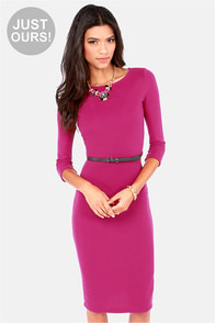 LULUS Exclusive Midi as a Picture Magenta Midi Dress at Lulus.com!
