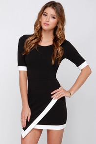 Wrap-phrodisiac Black Dress at Lulus.com!