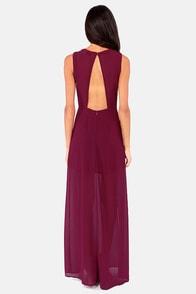 Classy-fied Information Burgundy Maxi Dress at Lulus.com!