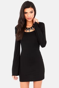 It's Getting Knot in Here Backless Black Dress at Lulus.com!