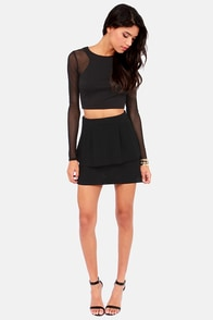 Style Seeker Cutout Black Top at Lulus.com!
