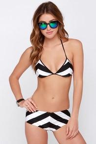 Amuse Society Stella Cruz Black and Ivory Reversible Bikini at Lulus.com!