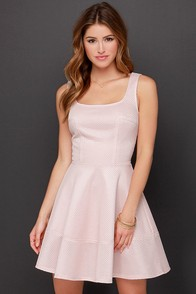 Sweeter Than Honey Blush Dress at Lulus.com!