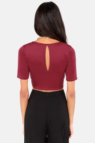 Flirty Little Secret Cutout Wine Red Top at Lulus.com!