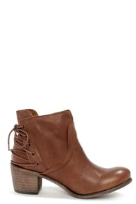 Sixtyseven Blake 75999 Sedona Tan Laced-Back Ankle Boots at Lulus.com!