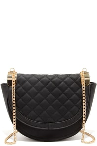 Grand Design Black Quilted Purse at Lulus.com!