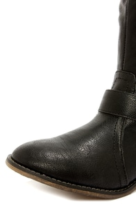 Clayton 14 Black Over the Knee Riding Boots at Lulus.com!