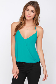 Maui Are Young Turquoise Halter Top at Lulus.com!