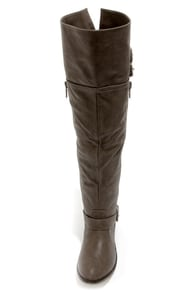 Clayton 14 Gray Over the Knee Riding Boots at Lulus.com!