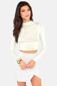Crop! In the Name of Love Ivory Crop Top at Lulus.com!
