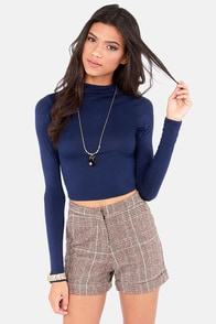 Crop! In the Name of Love Navy Blue Crop Top at Lulus.com!
