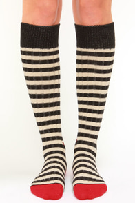 Stance Le Select Grey and Black Striped Socks at Lulus.com!