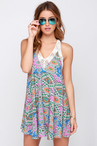 Lovers + Friends Hula Mosaic Print Dress at Lulus.com!