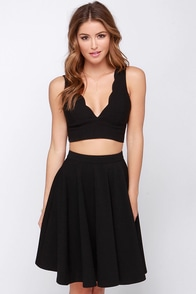 Crop-ular Demand Black Crop Top at Lulus.com!