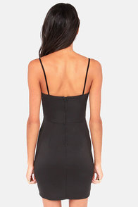 X and the City Black Bodycon Dress at Lulus.com!
