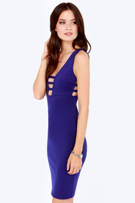 Mad Flattery Royal Blue Dress at Lulus.com!