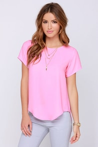 Coffee Date Pink Top at Lulus.com!