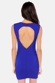 Aim For Fame Backless Blue Dress at Lulus.com!