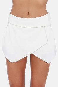 Fold School Ivory Shorts at Lulus.com!