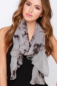 Ink-orporated Beige Print Scarf at Lulus.com!