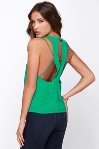 Let Me X-plain Green Top at Lulus.com!