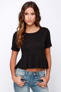 Casual Suspects Black Top at Lulus.com!