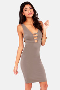 Mad Flattery Grey Dress at Lulus.com!