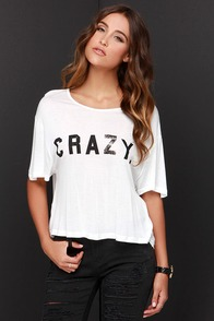 Somedays Lovin' Crazy Ivory Crop Tee at Lulus.com!