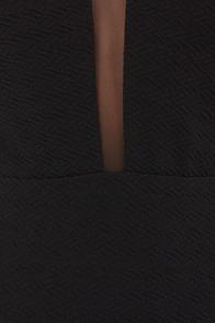 Net-Work Up a Sweat Black Halter Dress at Lulus.com!