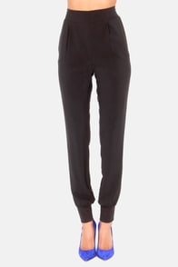 Now You're Walking! Black Harem Pants at Lulus.com!