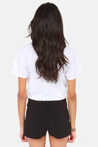 Fold School Black Shorts at Lulus.com!