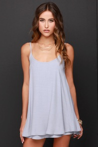 News to Me Grey Dress at Lulus.com!