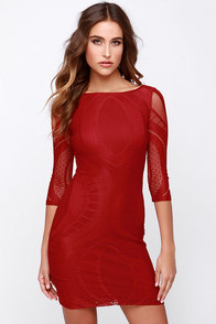 Crush a Lot Wine Red Lace Dress at Lulus.com!
