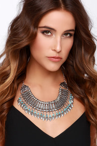 Ancient Ways Silver Statement Necklace at Lulus.com!
