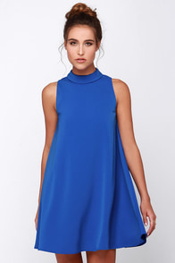 JOA Skies Above Blue Swing Dress at Lulus.com!