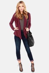 Set Me Free Hooded Burgundy Sweatshirt at Lulus.com!