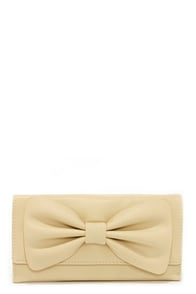 Bows Goes Beige Wallet at Lulus.com!