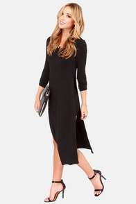 The Great Divide Long Sleeve Black Dress at Lulus.com!
