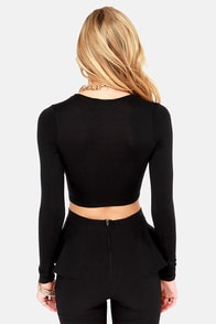 On Crop of the World Black Crop Top at Lulus.com!