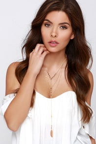 Tiers of Joy Gold Layered Necklace at Lulus.com!