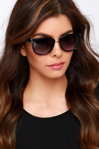 Congenial Black Sunglasses at Lulus.com!