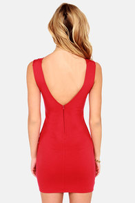 LULUS Exclusive Midnight Kiss Red Bodycon Dress at Lulus.com!