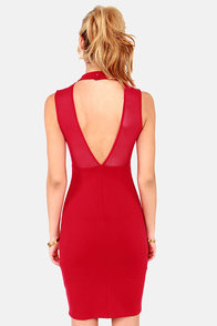 LULUS Exclusive Runway Ticket Cutout Red Midi Dress at Lulus.com!
